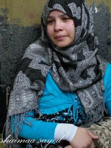 أخت الشهيد إسلام أفندى أحد ضحايا المذبحة كانت تنتظر وصول أى خبر عن أخوها ووجد فى تعداد الموتى
