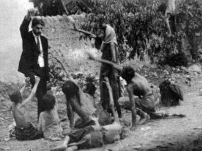 صورة أرشيفية من تعذيب الدولة العثمانية للأرمن